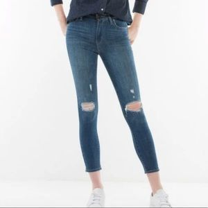 LEVI'S 721 HIGH RISE ANKLE SKINNY JEANS - BLUE